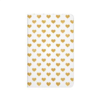 Love 2018 White - Golden heart Journal
