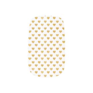 Love 2018 White - Golden heart Minx Nail Art