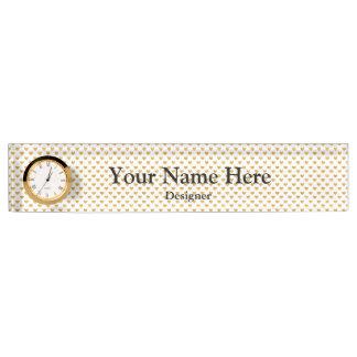 Love 2018 White - Golden heart Name Plate