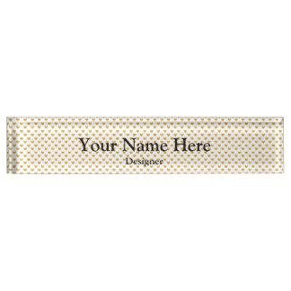 Love 2018 White - Golden heart Nameplate