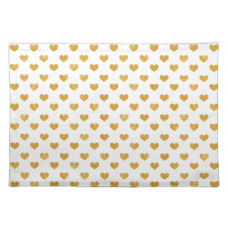 Love 2018 White - Golden heart Placemat