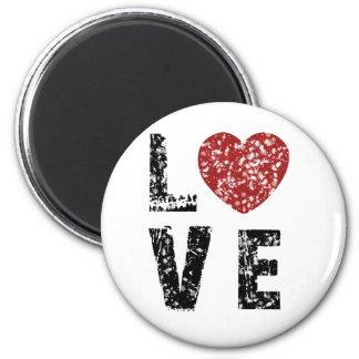 Love 2 Inch Round Magnet