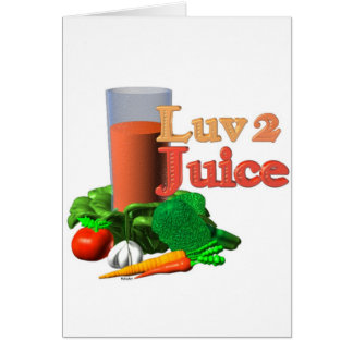 Love 2 Juice juicing design on 100+ Card