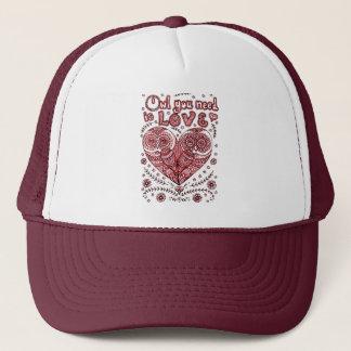 Love 2 trucker hat