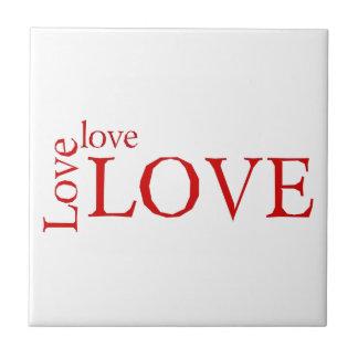 Love 3X Ceramic Tile