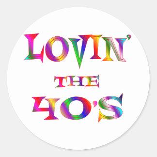 Love 40s round sticker