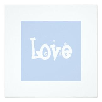 """Love 5.25"""" Square Invitation Card"""
