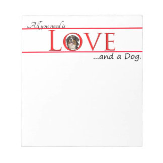 Love a Bernese Mt. Dog Note Pad
