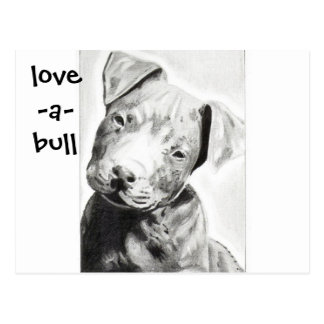 Love-a-bull Pitbull Puppy by Jacob Grimm Postcard