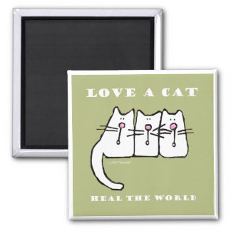 Love a Cat Three Kittens Magnet