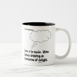 Love a la mode mug with black inside