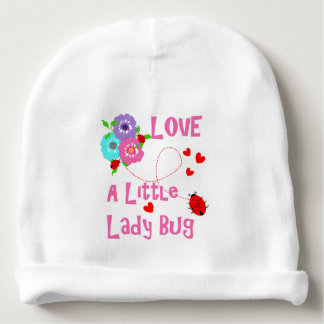 Love A Little Lady Bug Cute Kids Baby Beanie