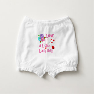 Love A Little Lady Bug Cute Kids Diaper Cover