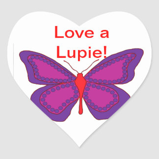 Love A Lupie Heart Sticker