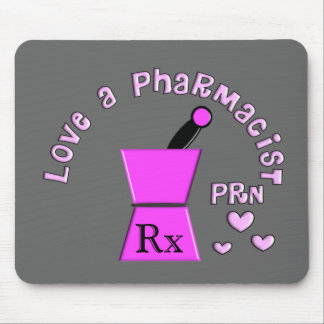 Love a Pharmacist PRN Pestle and Mortar Design Mouse Pad