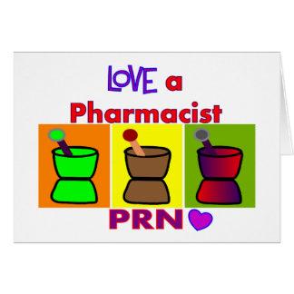 Love a Pharmacist PRN T-Shirts & Gifts Card