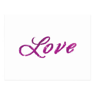 'Love' Abstract Pink and Purple Universe Postcard