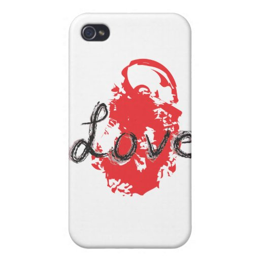 LOVE abtract iphone case iPhone 4/4S Case