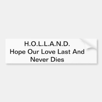 Love Acronyms Bumper Sticker