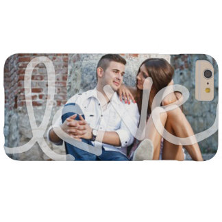 """Love"" Add your photo Barely There iPhone 6 Plus Case"