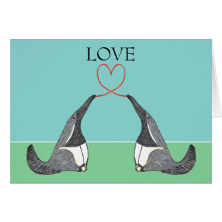 Love - Adorable Anteaters Card