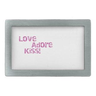 love adore kiss belt buckles