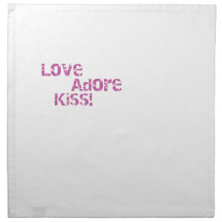 love adore kiss napkin