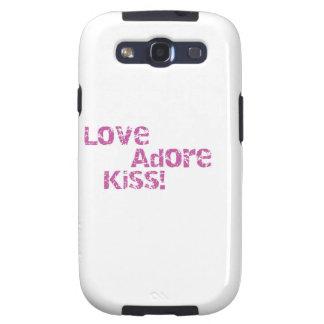 love adore kiss samsung galaxy SIII cover