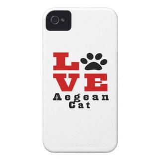 Love Aegean Cat Designes iPhone 4 Cases