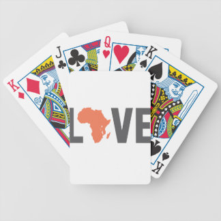 love africa bicycle playing cards