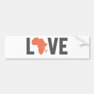 love africa bumper sticker