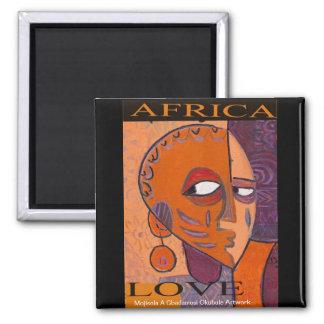 Love Africa Magnet by Mojisola A Gbadamosi Okubule