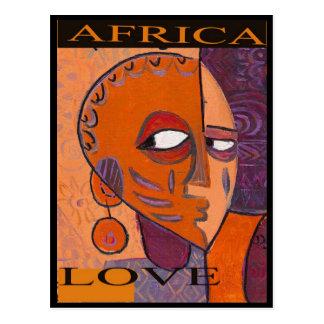 LOVE AFRICA POSTCARD BY MOJISOLA AGBADAMOSI OKUBUL