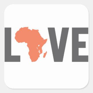 love africa square sticker