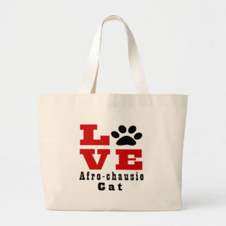 Love Afro-chausie Cat Designes Large Tote Bag