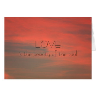 Love Against a Red Sky Valentine Card