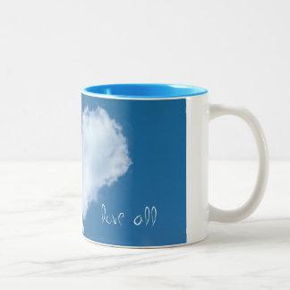 Love All Cloud Heart Two-Tone Coffee Mug