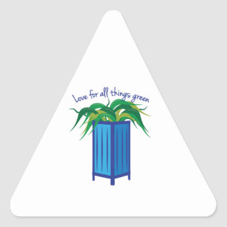 Love All Things Green Triangle Sticker