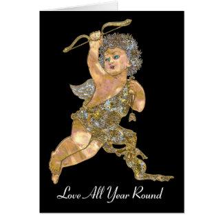 Love All Year Round Cherub Christmas Greeting Card