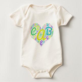 love alphabet baby bodysuit