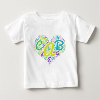 love alphabet baby T-Shirt
