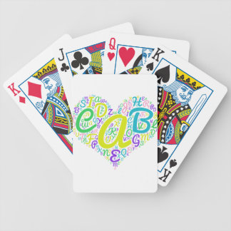 love alphabet bicycle playing cards