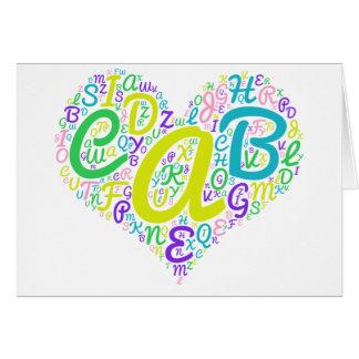 love alphabet card