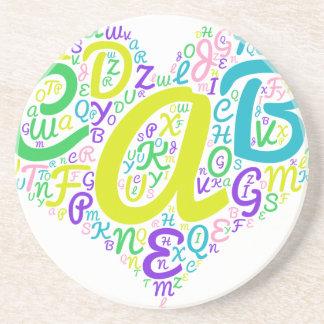 love alphabet coaster