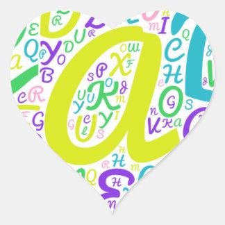 love alphabet heart sticker