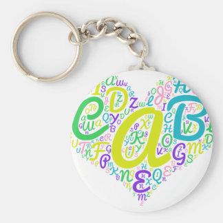 love alphabet keychain
