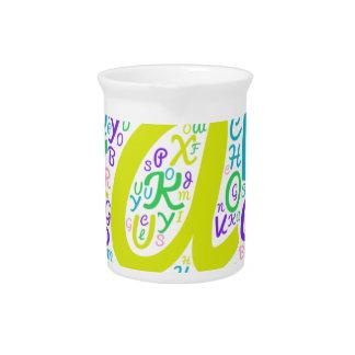 love alphabet pitcher