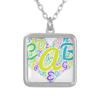 love alphabet silver plated necklace