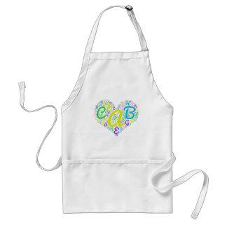 love alphabet standard apron