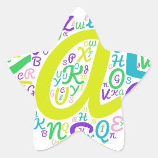 love alphabet star sticker